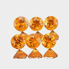 1.9mm Lot 6,10,20,50,100pcs Round Cut Calibrated Size Natural Orange SAPPHIRE