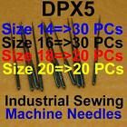 100 Industrial Sewing Machine Needles Dpx5 134r 135x5 135x7 Sy1901 Mixed Sizes