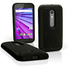 Hard Back PC Cover & Silicone Gel Bumper Case for Motorola Moto X Play XT1562