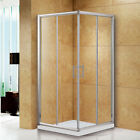 Walk In Corner Entry Sliding Shower Enclosure Cubicle Chrome Stone Tray+Waste