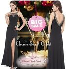 BNWT NADINE Black Lace Fitted Evening Ballgown Maxi Dress UK SALE 1/2 PRICE!!!