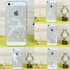 White Christmas Snowflake Reindeer Soft TPU XMAS Case Cover for iPhone 5/5S/6