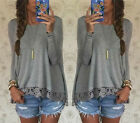 Fashion Womens Sexy Loose Cardigan Long Sleeve Tops Blouse Jumper Coats Outwear