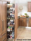 FULL HEIGHT SOFT CLOSE LARDER UNIT (Innostor) in 2 cabinet widths (ECF WWSC72**)