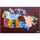 Canada License Plate Map Wall Decal Garage Removable Decor