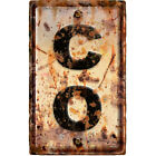 Colorado CO State Abbreviation Weathered Wall Decal Highway Decor