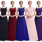 New Sleeveless V-Back Chiffon Formal Ballgown Maxi Evening Prom Party Dress 4~18