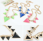 Fashion Chic Short Personalized Triangle Necklace Vintage Bib Statement Necklace