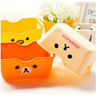 FD3153 Cartoon Relax Bear Home Desk Box Cosmetic Stationery Bathing Storage Box