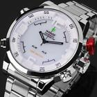 Weide Mens LED Date Day 6 Colors Sport Army Quartz Wrist Watch Gift