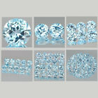 6mm Lot 1,2,6,10,20,50pcs Round Cut Natural Earth-Mined Sky Blue TOPAZ