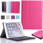 For Apple iPad mini 4 Folio Leather Stand Case with Removable Bluetooth Keyboard