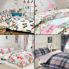 3 PIECE ROOM BED IN A BAG QUILT DUVET COVER BEDDING SET CURTAINS FITTED SHEET
