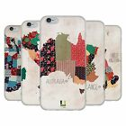 HEAD CASE DESIGNS PATTERNED MAPS SOFT GEL CASE FOR APPLE iPHONE PHONES