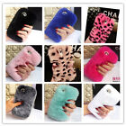 Hot Soft Warm Rabbit Fur Hair Furry Luxury Bling Case Cover For iPhone/Samsung