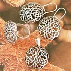STERLING SILVER .925 SET- PENDANT, RING, EARRINGS. RING J-Y SIZES AVAILABLE