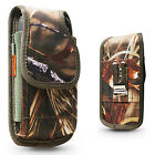 Real Camo Tree Rugged Nylon Holster Pouch Clip Fits w/ OTTERBOX Defender CASE ON