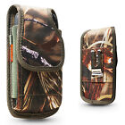 Real Camo Tree Rugged Nylon Holster Pouch Clip Fits with OTTERBOX THICK CASE ON