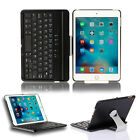 For iPad Mini 4 Cover Case with Swivel Rotary Stand Bluetooth Wireless Keyboard