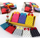 Chic Candy Color Socks Bowknot Ankle Socks Cotton 3D Socks Polka Dot Women Socks