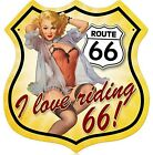 I Love Riding Route 66 metal sign     (pst)   FREE UK POSTAGE