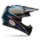 Bell Moto-9 MX Helmet - Shards by Airtrix Blue BlACK Offroad Motocross Trail End