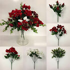 *ARTIFICIAL CHRISTMAS FLOWERS* Job Lot Of 6 x Bunches *Poinsettias, Roses etc*