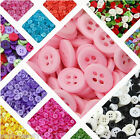 Resin 4 Holes Mixed Colors Sizes DIY Craft Scrapbook Fit Sewing Buttons Plastic