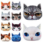 Stuffed Plush 3D Cute Cat Face Throw Pillow Cover Home Decor Car Cushion Toy