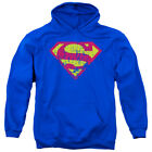 Superman Distressed Logo DC Comics Licensed Adult Pullover Hoodie