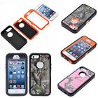 3 in 1 Combo Rugged Hybrid Shockproof Defender Armor Case Cover For iPhone 5 5S