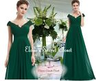 LORI Emerald Green Beaded Embellished Prom Evening Party Ballgown Dress 8 - 20