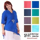 OH MY GAUZE Cotton CINDY Angled Hem Top 1(S/M) 2(L/XL) 3(1X/2X) 2015 DISC COLORS
