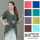 OH MY GAUZE Cotton GYPSY VNeck Fringe Tunic Top 1(M/L/XL) 2(1X) 2015 DISC COLORS