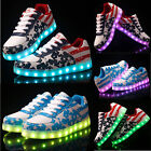 KSD New Unisex Couples Men Women Light Up Lace Up fluorescence Shoes Sneakers