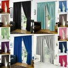 Dreamscene PAIR of Blackout Curtains & Tiebacks Pencil Pleat Thermal From £12.99