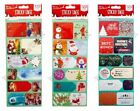 CHRISTMAS GIFT TAGS 100+ STICKERS SELF ADHESIVE LABEL SILVER GOLD FOIL GLITTER