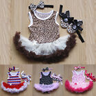 3pcs Cute Girls Baby Princess Dress Flower Tutu Dresses skirt shoes Outfits Hot