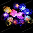 2pc LED Flashing Light Up Soft Jelly Blinking Party Favors Rave Glow Finger Ring