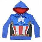 CAPTAIN AMERICA HOODIE CHILDRENS SWEATSHIRT ZIP JACKET JUMPER HOODY TOP 4 SIZES