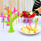 Hot Food Pick Fruit Dessert Cake Decoration Tree Bird Forks Kitchen Gadget Reuse