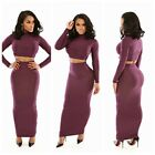 Sexy Womens Casual Two Pieces Cocktail Evening Party Club Bodycon Outfits Dress