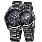 SINOBI Lovers' Watches Ceramic Band Quartz Couples Fashion Wristwatch Waterproof
