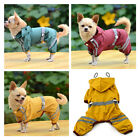 Pet Rain coat for Small Puppy Dogs Jacket Cute Casual Waterproof Dog Clothes AS