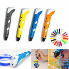 4 Colour 3D Printing Pen Stereoscopic Drawing Arts Crafts + 3 ABS Free Filaments