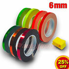 "6mm 1/4"" FLUORESCENT / CHROME Pinstriping Tape PIN STRIPE Decals Vinyl Stickers"