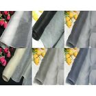 By Meters ECO 100% Pure Silk Organza White Gray Black Ivory Dress Material