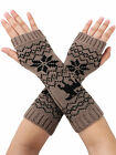 Fashion Women Gloves Arm Warmer Long Fingerless Knit Mitten Gloves Winter