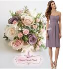 FAYE Lavender Rose Knee Length Strapless Chiffon Bridesmaid Dress UK 6 - 18