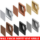 """Plastic Extractor Fan Wall Louvre Grill Grille Ventilation 4"""" , 5"""" , 6"""" , 110x54"""